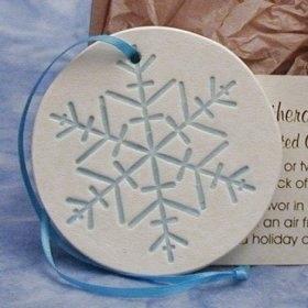 Snowflake Ornament Favors